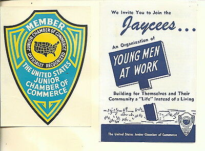 NM-025 - 1959 Jaycees Junior Chamber of Commerce Lot Four Pieces Vintage
