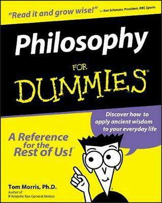 Philosophy for Dummies by Tom Morris (English) Paperback Book Free Shipping!