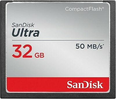 SanDisk 32GB 32 GB CF Ultra Compact Flash Memory Card 50MB/s SDCFHS-032G RETAIL