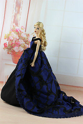 Fashion Royalty Princess Party Dress Clothes/Gown For Barbie Doll S335U