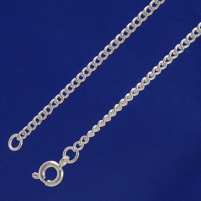 "CLEARANCE.  Wholesale Pack of 100 x 16"" Silver Plated  Curb chains.  W2001cl"