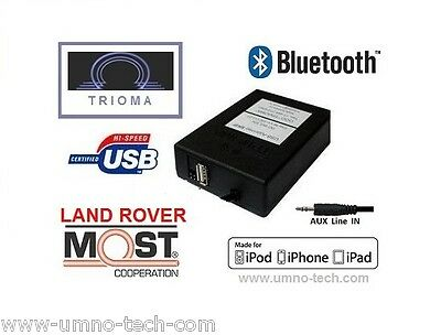 RANGE ROVER Vogue L322 2004-09 USB MP3 iPod AUX Bluetooth TRIOMA MOST Interface