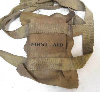 USA WW2 Airborne Helmet First Aid Pouch Pack US Paratrooper WWII M1 M2 M1C Aged