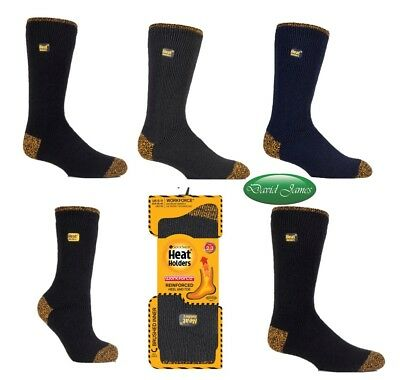 Workforce REINFORCED Thermal Winter Warm Heat Holders Socks Black