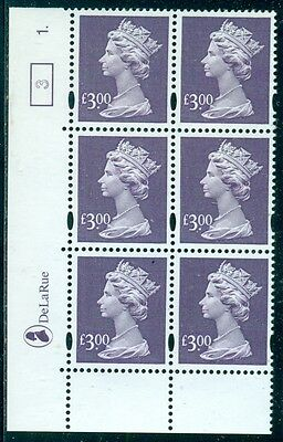 Great Britain Sg-Y1802, Scott # Mh-282 Cyl. Blk/6, Mint, Og, Nh, Great Price!