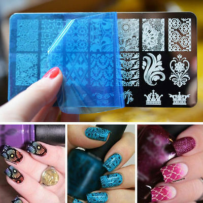 10 Dessins Ongle Timbre Stamping Pochoir Plaque Nail Art Image Template Manucure