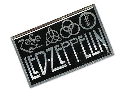 1Pc. Led-Zeppelin Zoso Rock Band Resin Coated Reflective Sticker Decal Metallic
