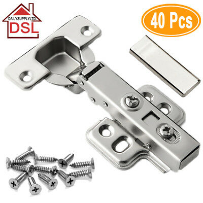 TOP Quality Full Overlay 35mm Soft Close Hinges Kitchen Cabinet Cupboard Door UK