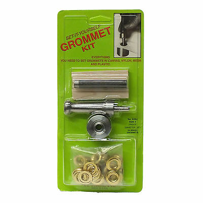 Set-it-yourself Grommet Kit, Size 2, canvas, Nylon, Mesh, Plastic Fast Shipping