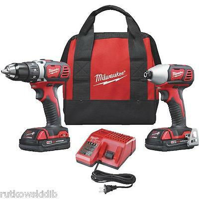 Milwaukee M18 Lithium-Ion Drill Driver/Impact Cordless Tool Combo Kit