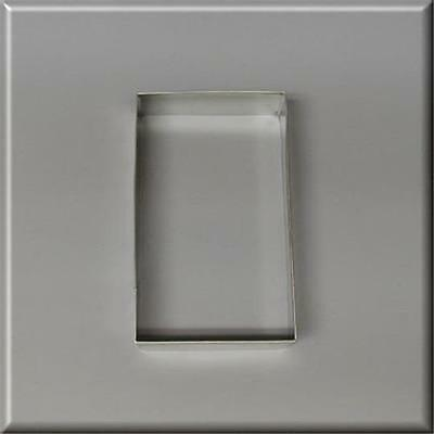 """4"""" X 2 3/8"""" Rectangle Biscuit Metal Cookie Cutter #nc9148"""