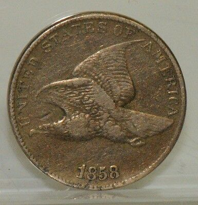 1858 LL Flying Eagle Cent – Large Letters – Very Fine