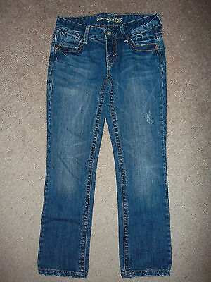 American Eagle Hipster Stretch Jeans Size 2 Reg Denim 27X27 1/2