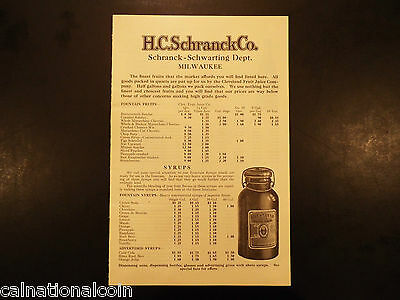 Vintage H. C. Schranck Co. Schranck-Schwarting Dept. Milwaukee booklet