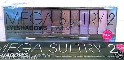 Technic MEGA SULTRY 2 - 12 Shade Eyeshadow Palette ❤ Blue Brown Beige Cream ❤