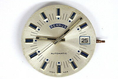 Benrus 17 jewels HD185 automatic movement for parts - 114478