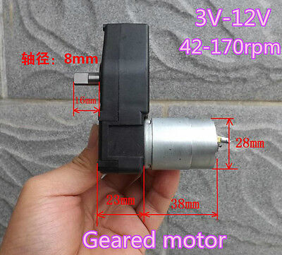 DC3V-12V 5V Gearmotor Geared Motor Slow speed smart car crank generator DIY