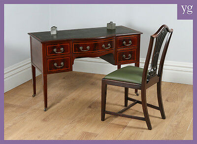Antique Edwardian Ladies Inlaid Mahogany Maples & Co. Writing Table Office Desk