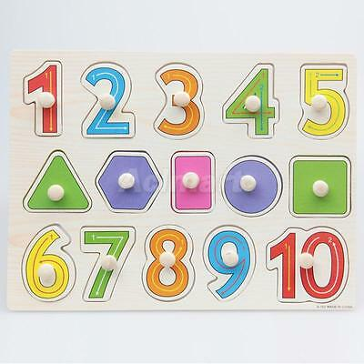 Wooden Numbers Shaped Educational Puzzle for Preschool Kids Early Learning
