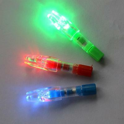 12x Automatical LED Glowing Lighted Nocks Hunting Bow Archery Arrow Nock 3 Color