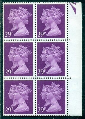 Great Britain Sg-1471, Scott # Mh-196 Block Of 6, Mint, Og, Nh, Great Price!