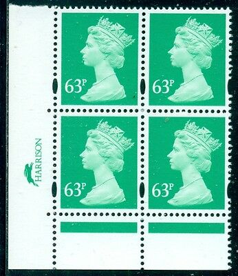 Great Britain Sg-Y1787, Scott # Mh-275 Block Of 4, Mint, Og, Nh, Great Price!