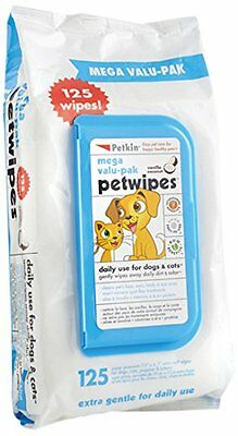 Petkin Mega Valu Pet Wipes, Pack of 125