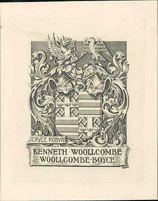 Kenneth Woollcombe Woollcombe-Boyce.  Bookplate Qi.240