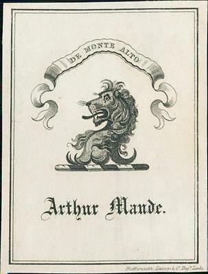 Arthur Maude.  Lion.  Leeds: Butterworth, Livesey & co.  Bookplate Qi.230