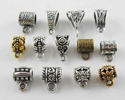27 kind -2 Or Mixed Tibetan Silver,Gold,Bronze Charms Bail Connector Beads
