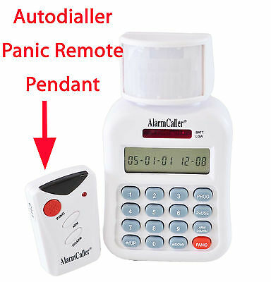 Panic Distress Intruder Alarm Remote Pendant PIR Be Safe & Secure Auto Dialling