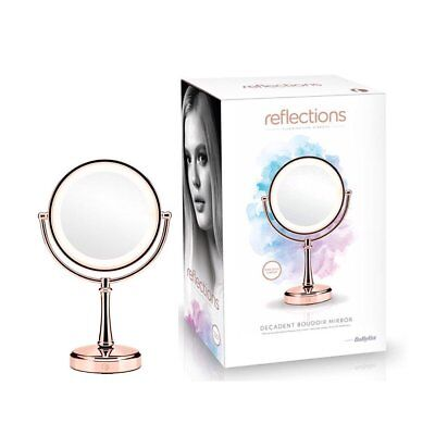 Reflections by BaByliss Decadent Boudoir Illuminated Mirror, Rose Gold