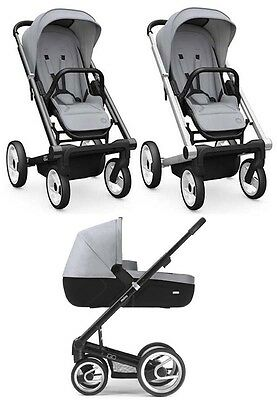 """Mutsy Igo"" stroller and bassinet, foldable with wheels locks, Black and Gray"