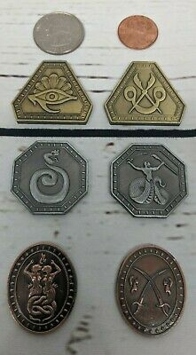 Fantasy Serpent- Snake Coin - Set- LARP, Game, Role Playing, RPG