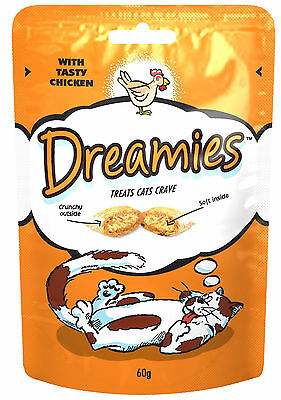 Dreamies Cat Treats 60g Pack Of 3 - Cheese Beef And Chicken