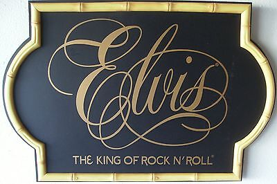 Elvis The King of Rock and Roll Music Pub Wood Sign