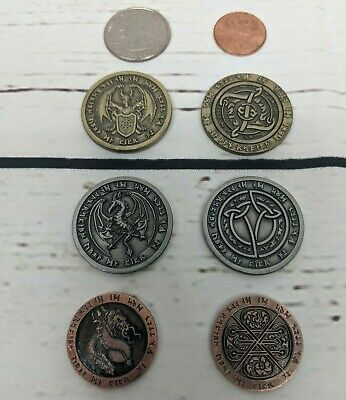 Fantasy Fire - Dragon Coin - Set- LARP, Game, Role Playing, RPG