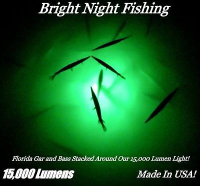 12v led green underwater submersible boat night fishing fish light, Reel Combo
