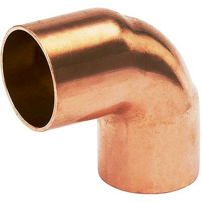 "(Bag of 10) 1 1/4"" Copper Fitting 90 Degree Sweat Elbow CxC"