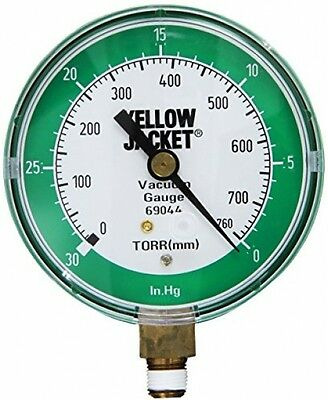 Yellow Jacket 69044 Vacuum Gauge, 0-30 Hg/760-0 Torr, 3 1/8