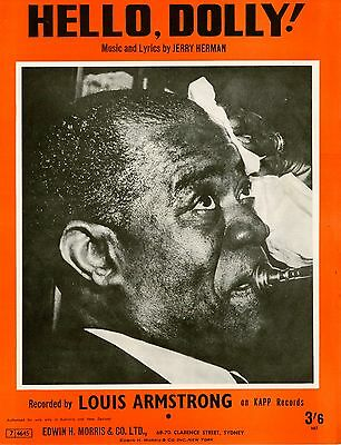 Louis Armstrong - Hello Dolly - Vintage Sheet Music Australia