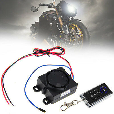 Motorcycle Remote Control Anti-theft Security Alarm System 120-125dB 12V