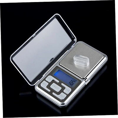 Stainless steel 500g 0.1g Digital Electronic LCD Jewelry Pocket Weight Scale B9