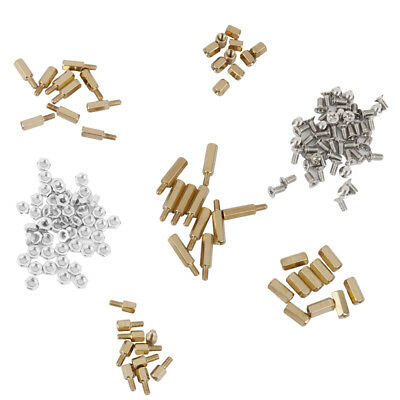 150pcs Brass M3 Hexagonal Screw Nut PCB Board Standoff Support Spacer DIY
