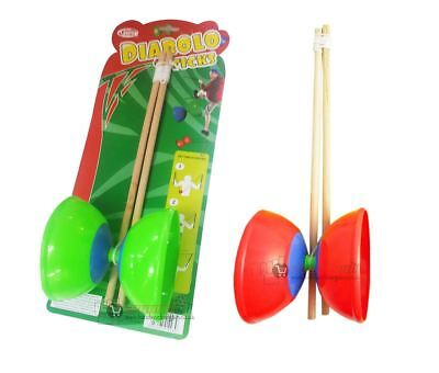 New Retro Diablo Juggling Toy Set With Sticks Traditional Circus Game Fun