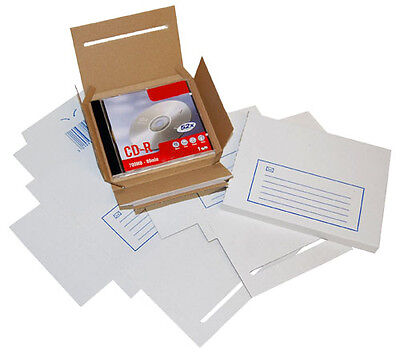 CD DVD Mailer Mailing White Post Postal Cardboard Shipping Boxes Write On Area