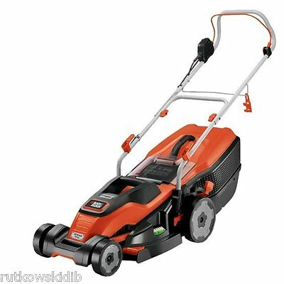 Black & Decker 17-inch Corded 120V Electric Walk-Behind Lawn Mower with Edge Max
