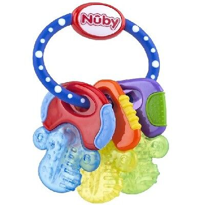 Nuby IcyBite Teether 3+mos Multi-Color; BABY SHOWER GIFTS