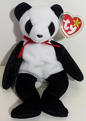 "TY Beanie Babies ""FORTUNE"" the Panda Teddy Bear - MWMTs! RETIRED! A MUST HAVE!"