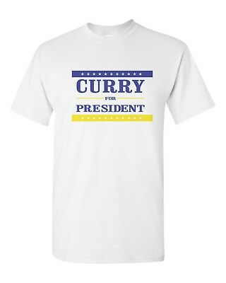 57c7a6f989b Steph Chef Curry For President Gildan T-Shirt Tee Warriors Dub Nation -  White